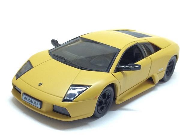 โมเดลรถ โมเดลรถยนต์ โมเดลรถเหล็ก Murcielago yellow 1