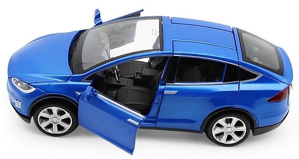 โมเดลรถเหล็ก โมเดลรถยนต์ Tesla Model X 5