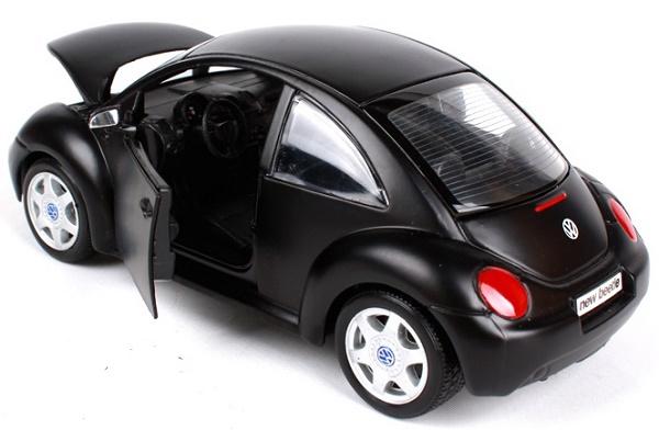 โมเดลรถยนต์ โมเดลรถเหล็ก VW New Beetle matte black 5