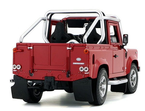 โมเดลรถ โมเดลรถเหล็ก โมเดลรถยนต์ Land Rover Defender SVX red 2