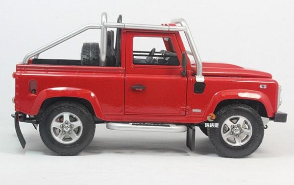 โมเดลรถ โมเดลรถเหล็ก โมเดลรถยนต์ Land Rover Defender SVX red 3