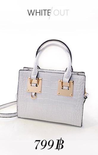 [ พร้อมส่ง ] - กระเป๋าแฟชั่นนำเข้า สไตล์เกาหลี สีขาวสุดหรู
