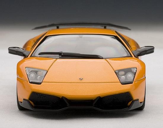 โมเดลรถ โมเดลรถยนต์ โมเดลรถเหล็ก lamborghini LP670-4 SV orange 4