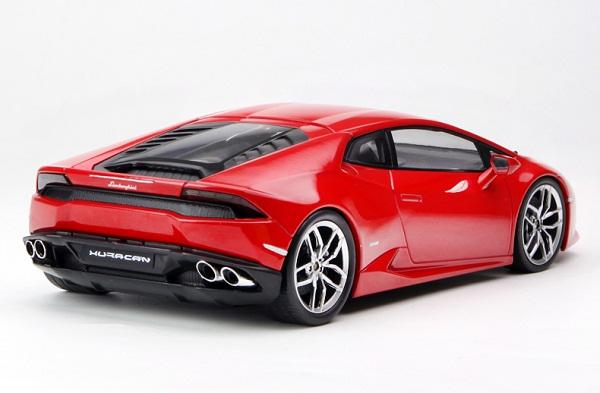 โมเดลรถ โมเดลรถเหล็ก โมเดลรถยนต์ Lamborghini Huracan red 4