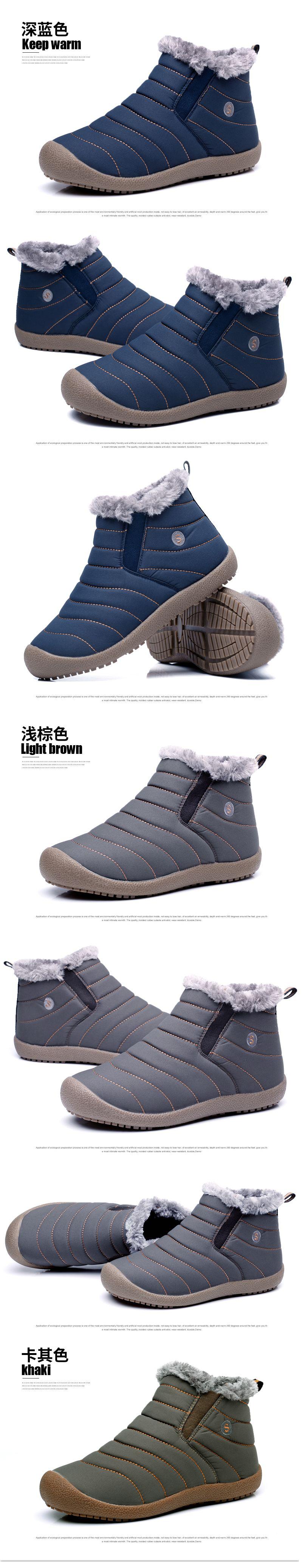 รองเท้าชาย รองเท้าบูทรองเท้าหิมะแฟชั่น