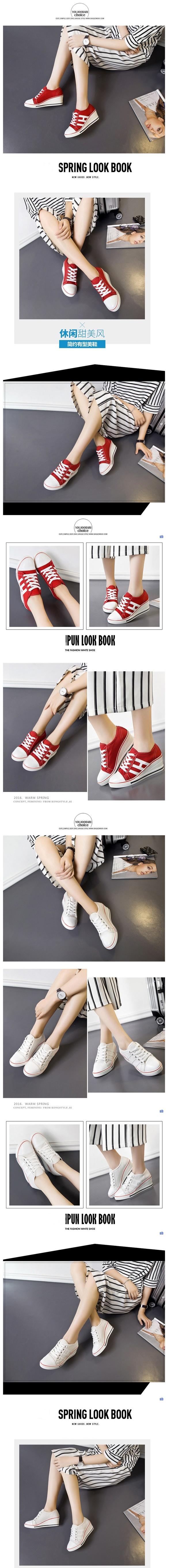 รองเท้าผ้าใบเสริมสูง 6cm หุ้มข้อ ไซต์ 35-43