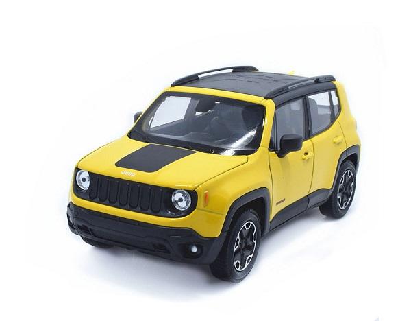 โมเดลรถเหล็ก โมเดลรถยนต์ Jeep Renegade Trailhawk yellow 1