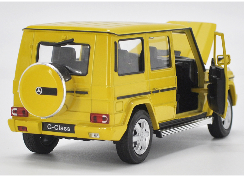 โมเดลรถ โมเดลรถเหล็ก โมเดลรถยนต์ benz G500 yellow 1