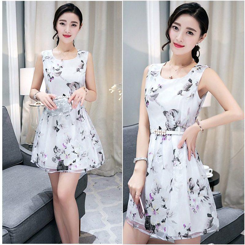 **สินค้าหมด Dress4004 ชุดเดรสทรงสวยลายดอกไม้สีพื้นขาว ซิปข้างใส่ง่าย มีซับในอย่างดีทั้งชุด ผ้าชีฟองเนื้อดีเกรดพรีเมียมมีน้ำหนักทิ้งตัวสวย ผ้าสวยเกินราคา ทรงนี้ใส่ได้บ่อย ชุดเดียวสวยจบ แนะนำเลยจ้า