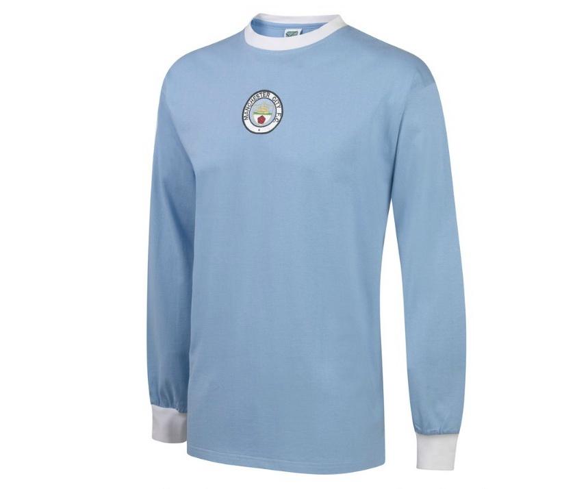 เสื้อ Retro แมนเชสเตอร์ ซิตี้ ของแท้ 100% Manchester City 1972 Long Sleeve Home Shirt เป็นของฝาก ของสะสม ที่ระลึก ของขวัญแด่คนสำคัญ Size: S M L XL XXL
