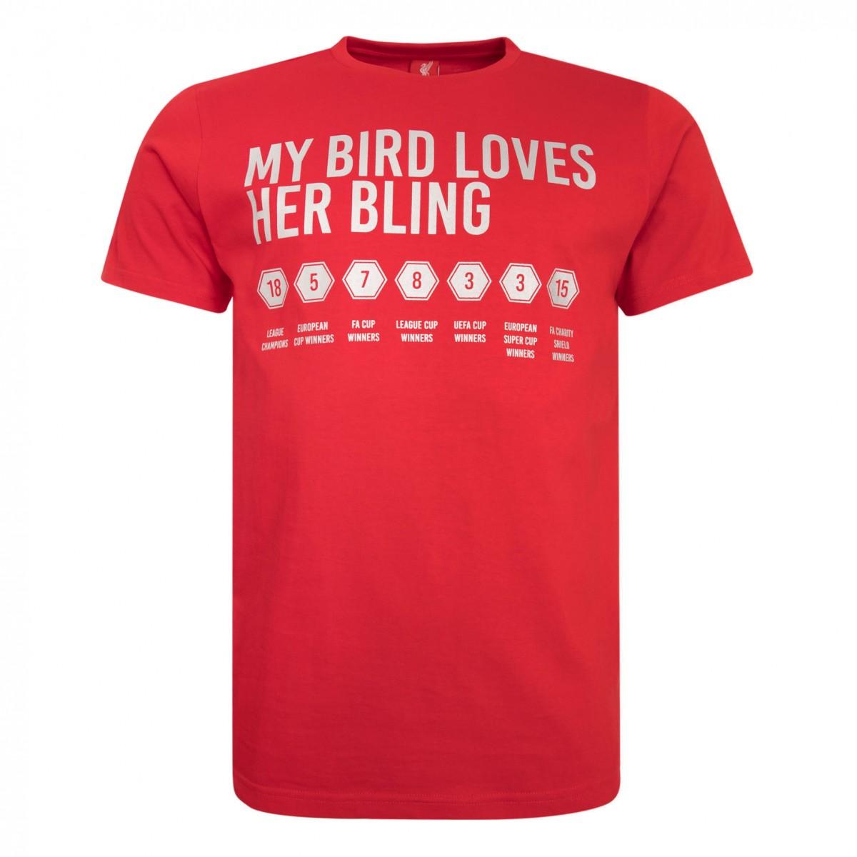 เสื้อทีเชิ้ตลิเวอร์พูล Mens Red Bird Bling Tee ของแท้
