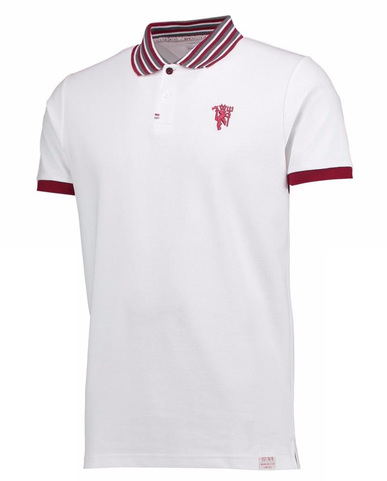 เสื้อโปโลแมนเชสเตอร์ ยูไนเต็ด Manchester United Lifestyle Polo Shirt White ของแท้