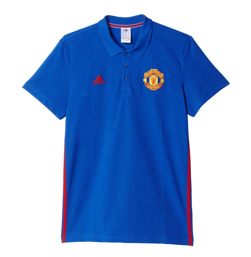 เสื้ออดิดาสแมนเชสเตอร์ ยูไนเต็ด คอร์โปโลสีน้ำเงินของแท้