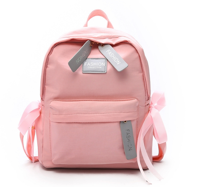 [ พร้อมส่ง ] - กระเป๋าเป้แฟชั่น สีชมพู สุดเท่ ดีไซน์สวยเก๋ไม่ซ้ำใคร สวยสุดมั่น เหมาะกับสาว ๆ ที่ชอบกระเป๋าเป้น้ำหนักเบาๆ