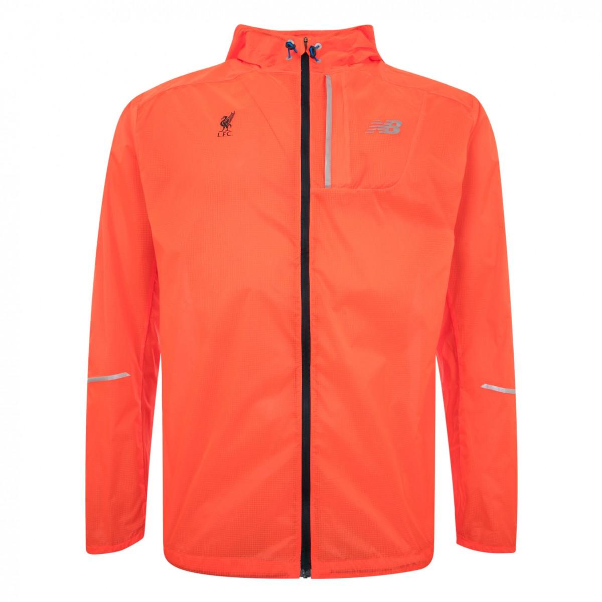 เสื้อฮู้ดนิวบาลานซ์ลิเวอร์พูลของแท้ New Balance Mens Orange Lite Packable Jacket