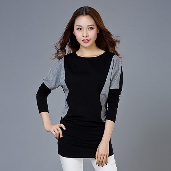 เสื้อยืดสีดำแขนยาวไซส์ใหญ่ (M,L,XL,2XL,3XL,4XL)