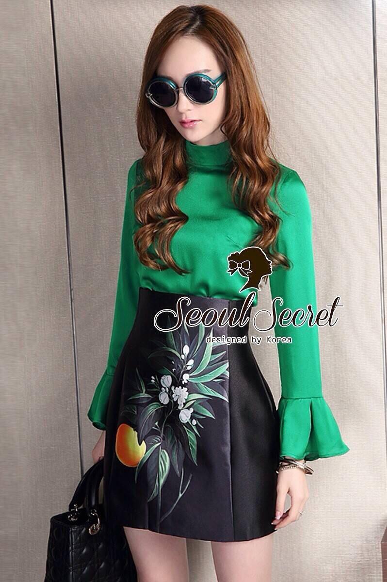 Seoul Secret Say's ... Glamorous Fashionista Blouse&Skirt Set