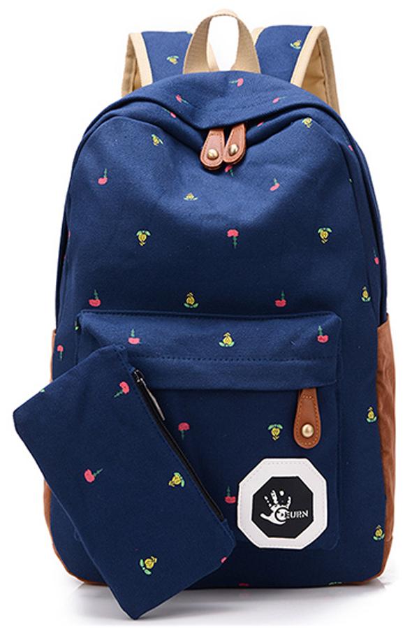 พร้อมส่ง!!! fashion กระเป๋าเป้ รุ่น FT12 ( สีน้ำเงิน )