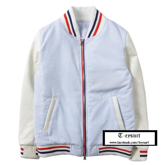 เสื้อThom Browne Stripe Baseball Jacket