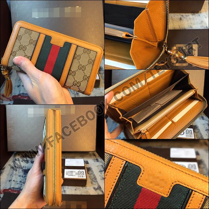 กระเป๋าสตางค์ Gucci Women's Wallet Leather 1:1