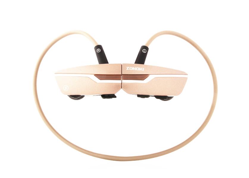 ZONOKI B97 หูฟังบลูทูธ bluetooth stereo headset แบตเตอรี่ในตัว รับโทรศัพท์ได้ -Champagne