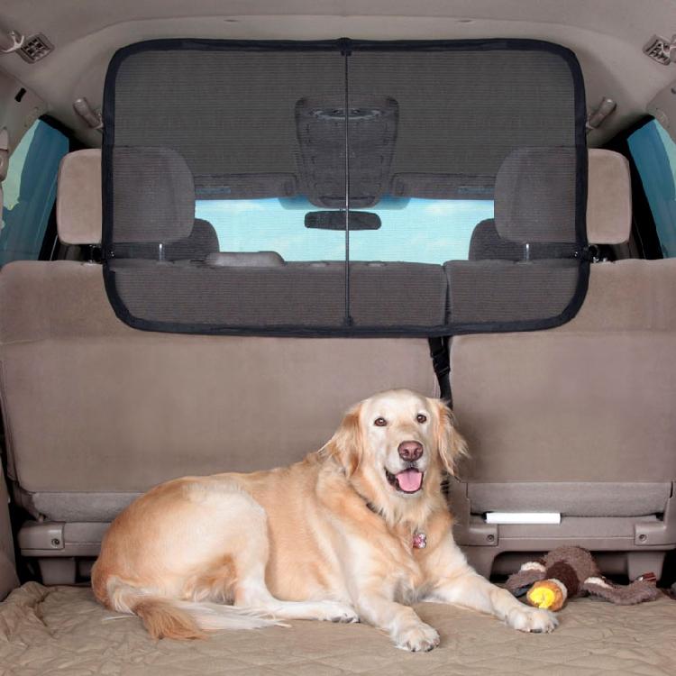 ฉากกั้นในรถ solvit สำหรับสุนัขตัวใหญ่