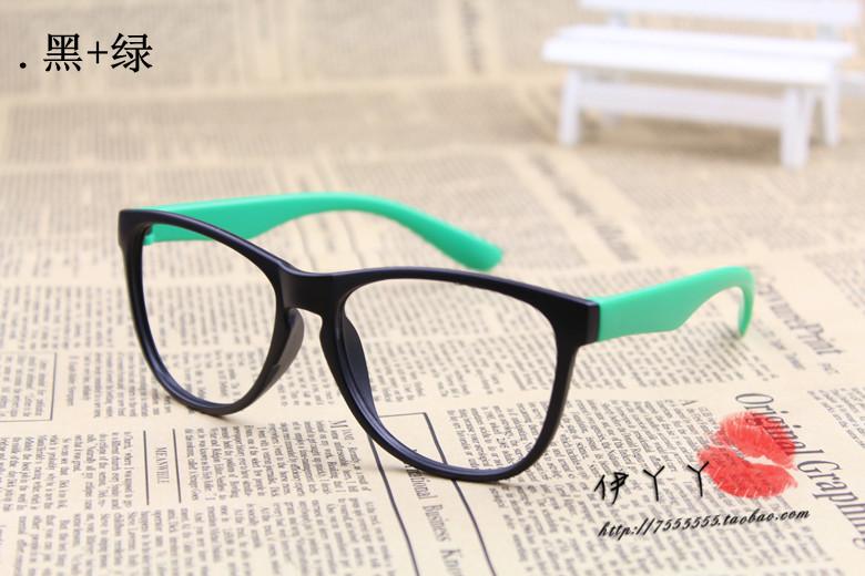 แว่นตาแฟชั่นเกาหลี สีดำเขียว (ไม่มีเลนส์)