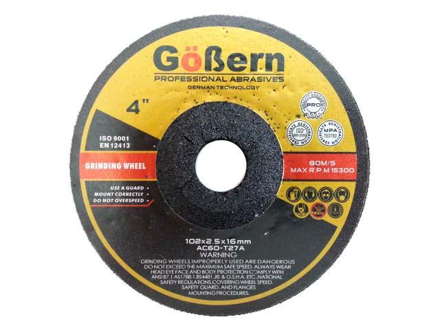 """แผ่นเจียรบาง 4"""" 2.5 มิล (เจียรบางอ่อนตัว) (สีแดง) GoBern"""