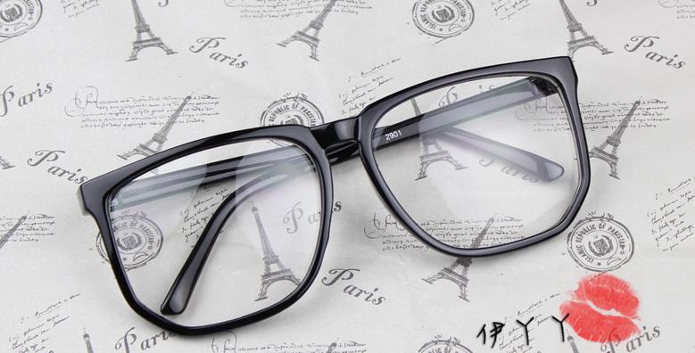 แว่นตาแฟชั่นเกาหลี สีดำด้าน (พร้อมเลนส์)