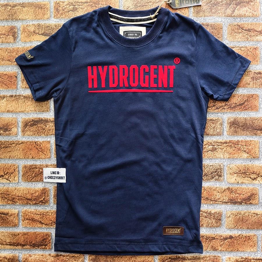เสื้อยืดแฟชั่น HYDROGENT กรมท่า อักษรแดง