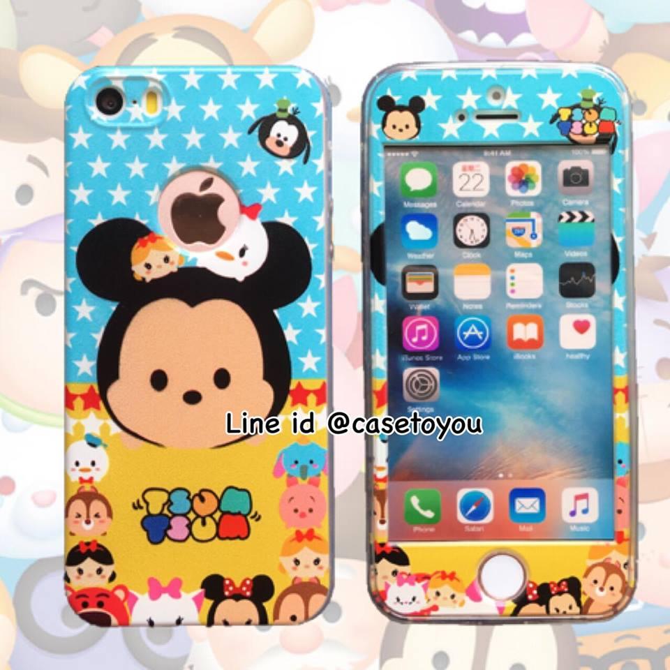 เคสประกบหน้าแข็ง หลังนิ่ม Mickey iPhone 5/5S/SE