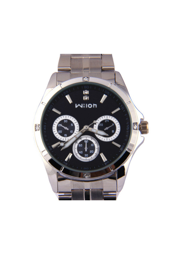 Wilon Veyron watches women นาฬิกาผู้หญิง แบรนด์ของฮ่องกง ระบบควอทด์ กันน้ำ กันสนิม สีดำ