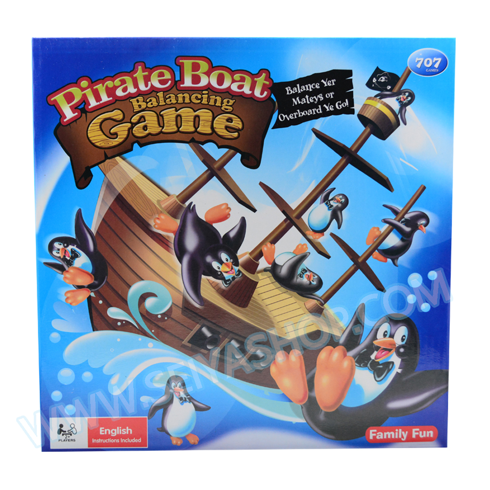BO055 Pirate boat balancing Gameเกมส์บอร์ด เสริมพัฒนาการ เกมส์ติด เกมส์เพนกวินตกเรือโจรสลัด ฝึกไหวพริบ และ การทรงตัว