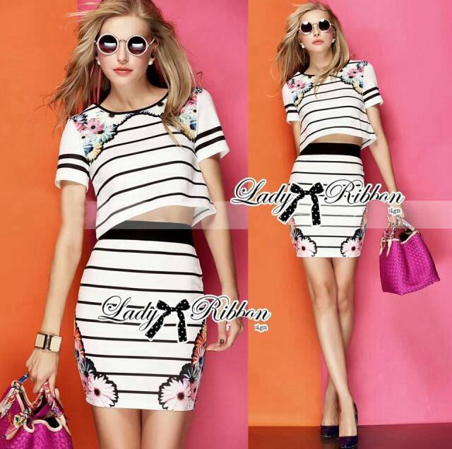 Lady Dana Blossom Graphic Play Striped Set L127-75E10