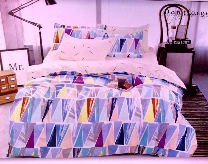 ชุดเครื่องนอนเกรด เอ ผ้านวมหนานุ่ม ผ้าคัตตอล สีไม่ตก ไม่หด ไม่เป็นขุย
