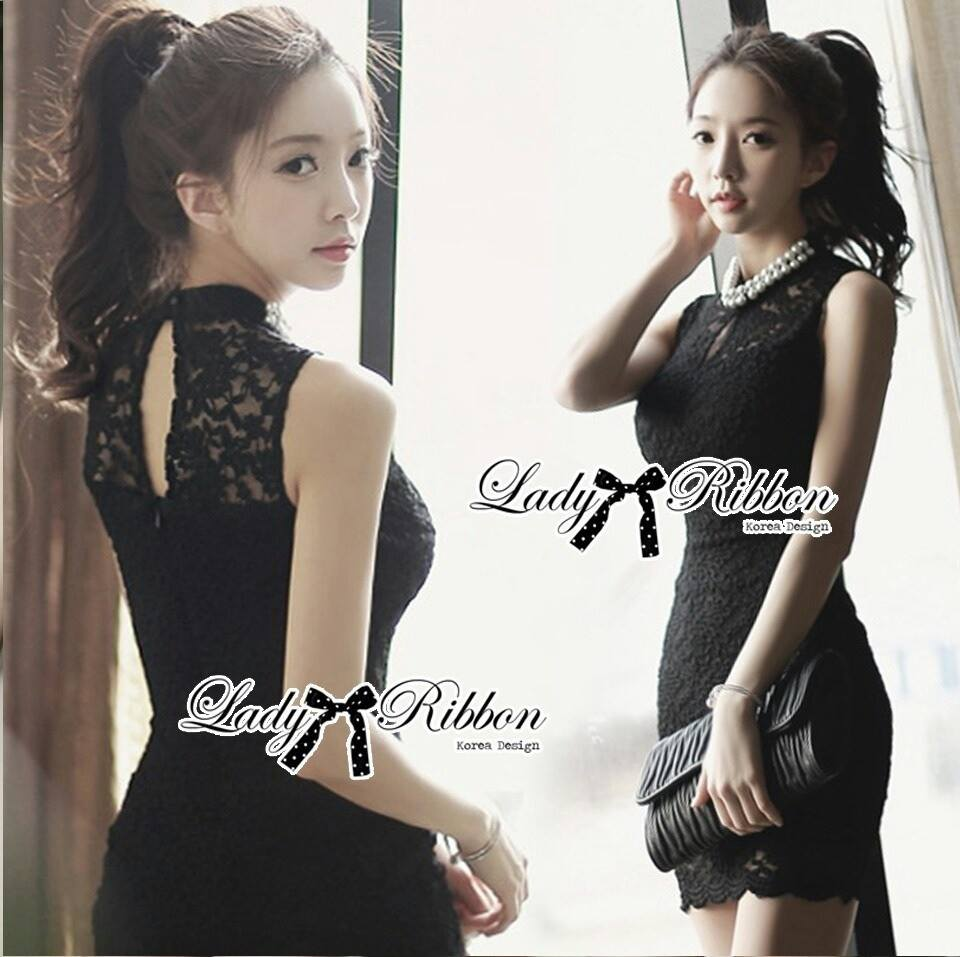 DR-LR-134 Lady Clare Classic Elegant Pearl Lace Dress