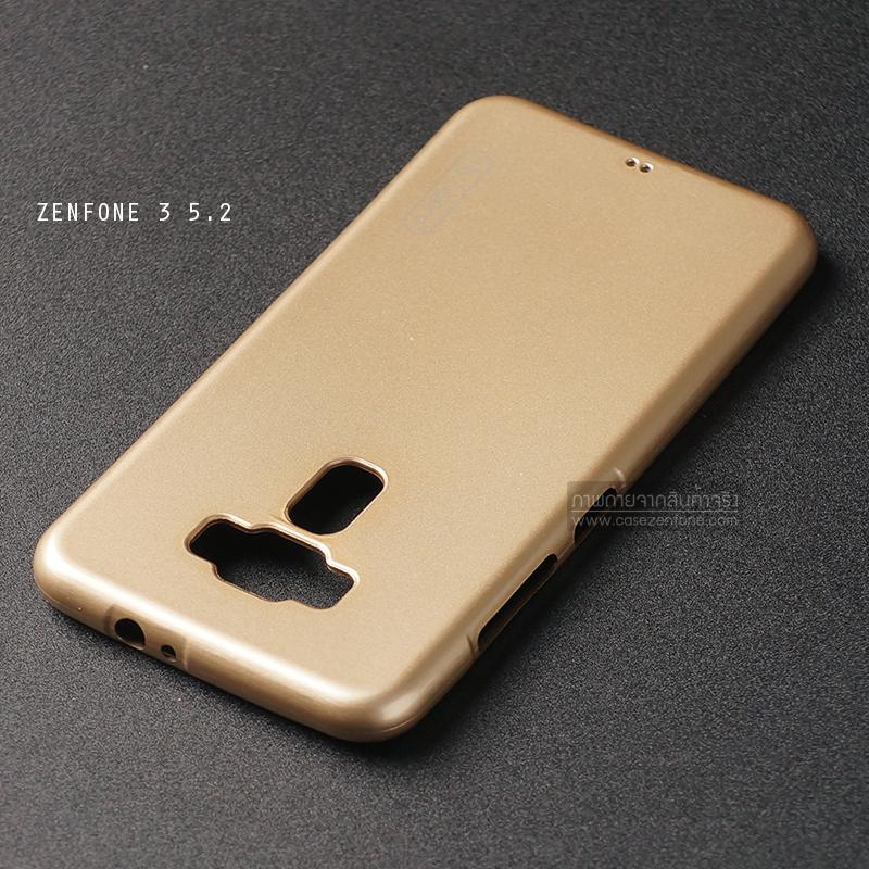 """เคส Zenfone 3 ZE520KL (5.2"""" นิ้ว) เคสนิ่มผิวเงา (MY COLORS) สีทอง"""
