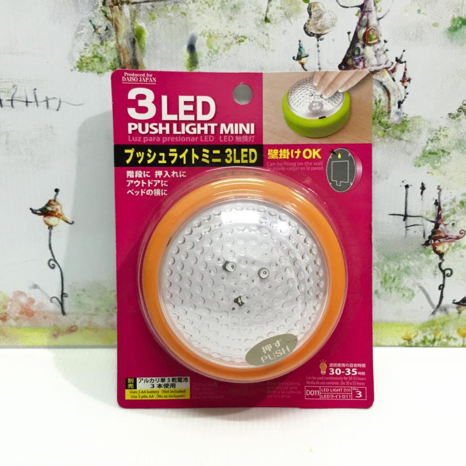 ไฟกลม 3 LED (ใช้ถ่าน) ส้ม