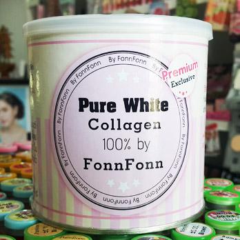 คอลลาเจนเพียว บาย ฝนฝน Pure White Collagen 100% by FonnFonn ราคาส่ง 3 กระปุก กระปุกละ 600 บาทุ/6 กระปุก กระปุกละ 590 บาท/ 12 กระปุก กระปุกละ 580 บาท/24 กระปุก กระปุกละ 570 บาท ขายเครื่องสำอาง อาหารเสริม ครีม ราคาถูก ปลีก-ส่ง ของแท้ 100%