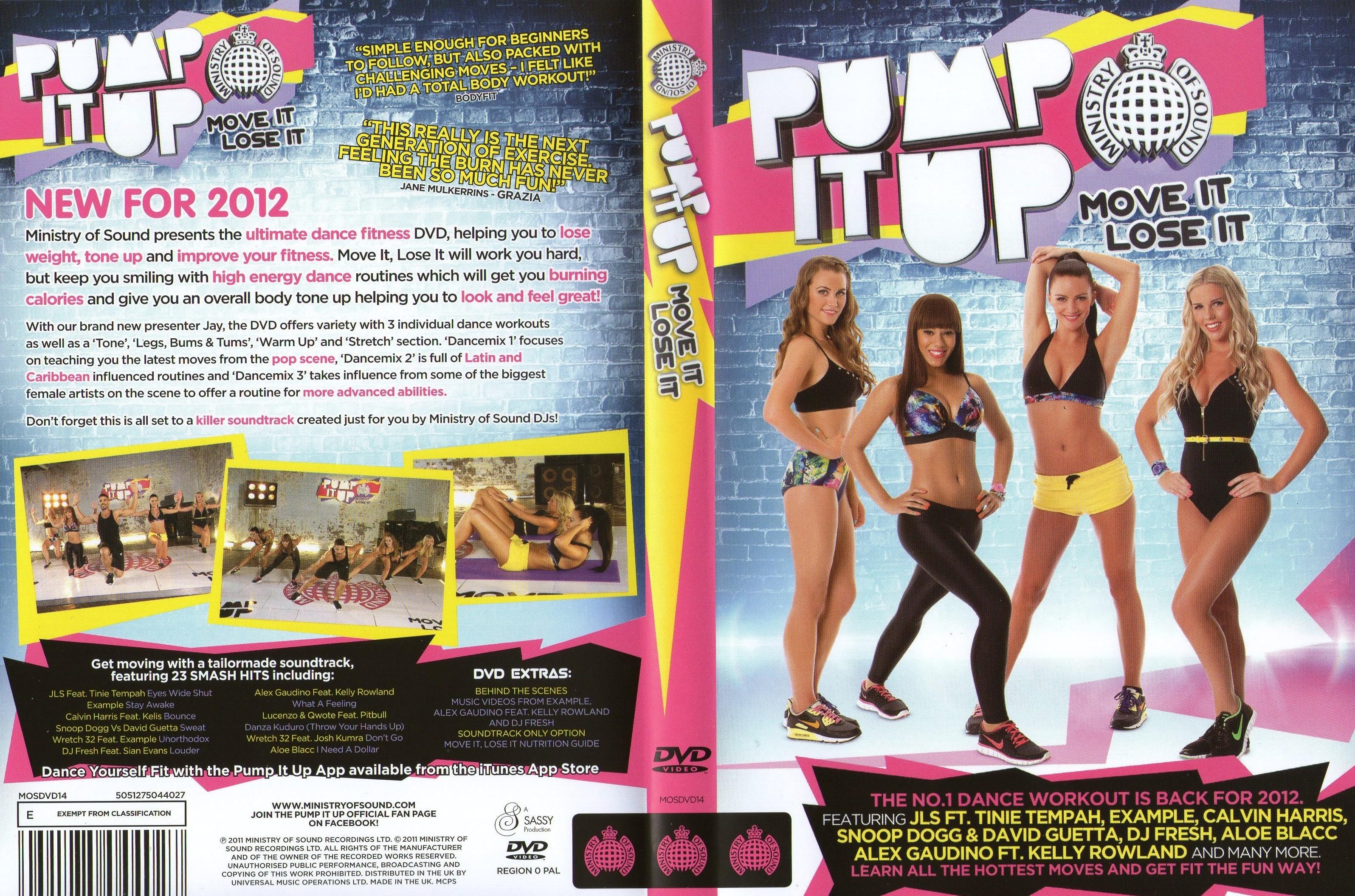 ดีวีดีเต้นแอโรบิคออกกำลังกาย Pump It Up Move It, Lose It  ใหม่ล่าสุดกับซีรีย์ Dance ไปกับ Pump It Up ปี 2012
