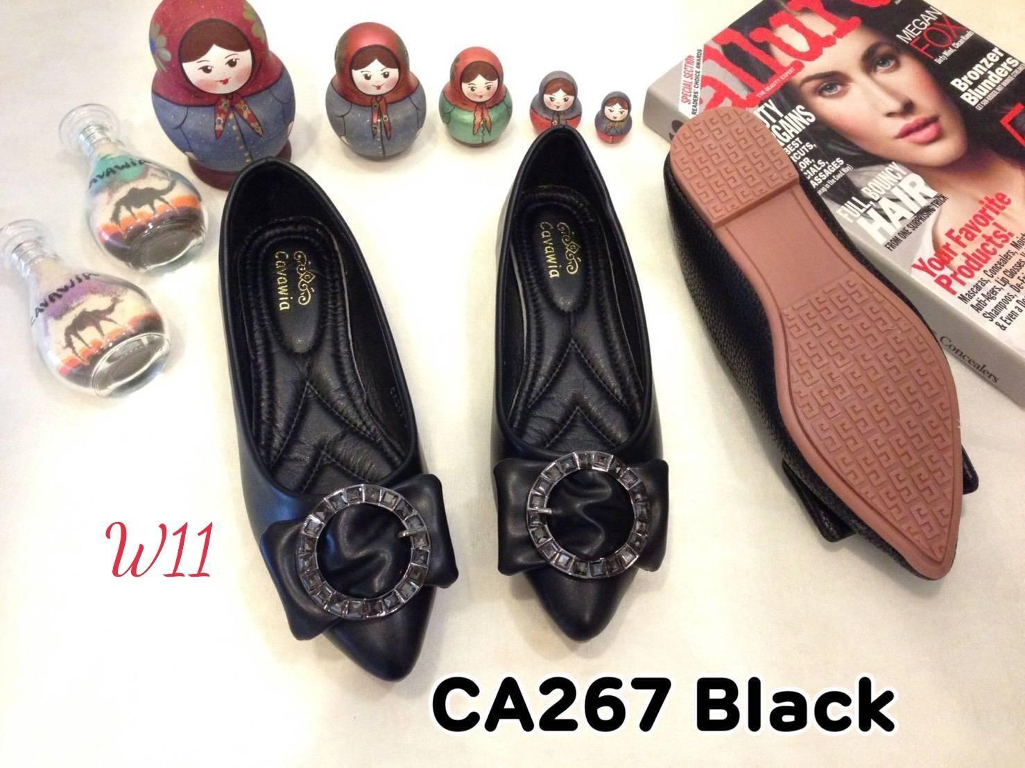 รองเท้าคัทชู ส้นแบน แต่งอะไหล่สวยหรู หนังนิ่ม ทรงสวย ใส่สบาย แมทสวยได้ทุกชุด (CA267)