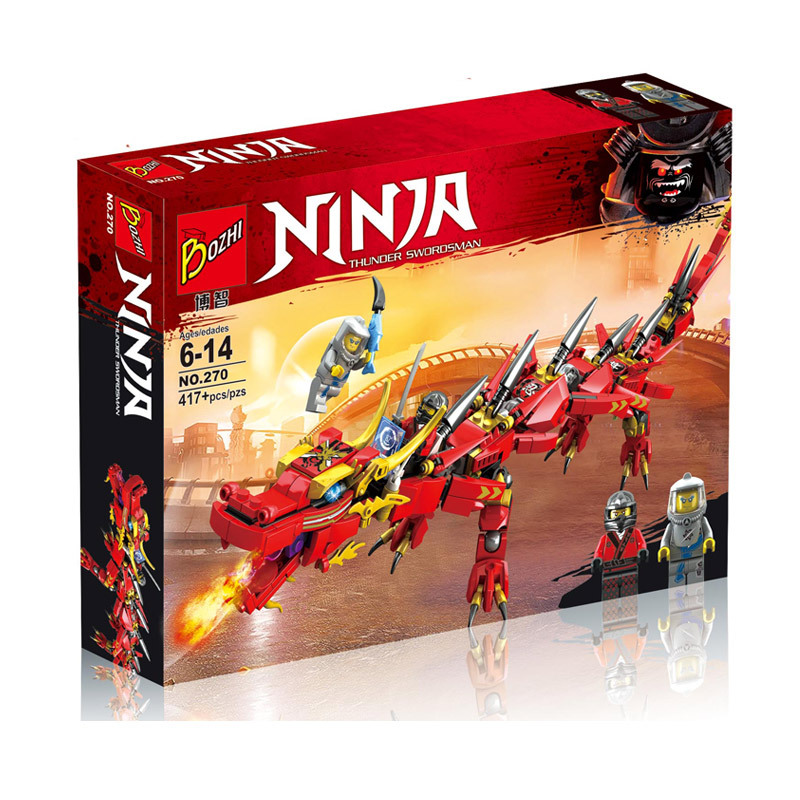 เลโก้จีน Bozhi.270 ชุด Ninja Go Movie Red Ninja Mech Dragon