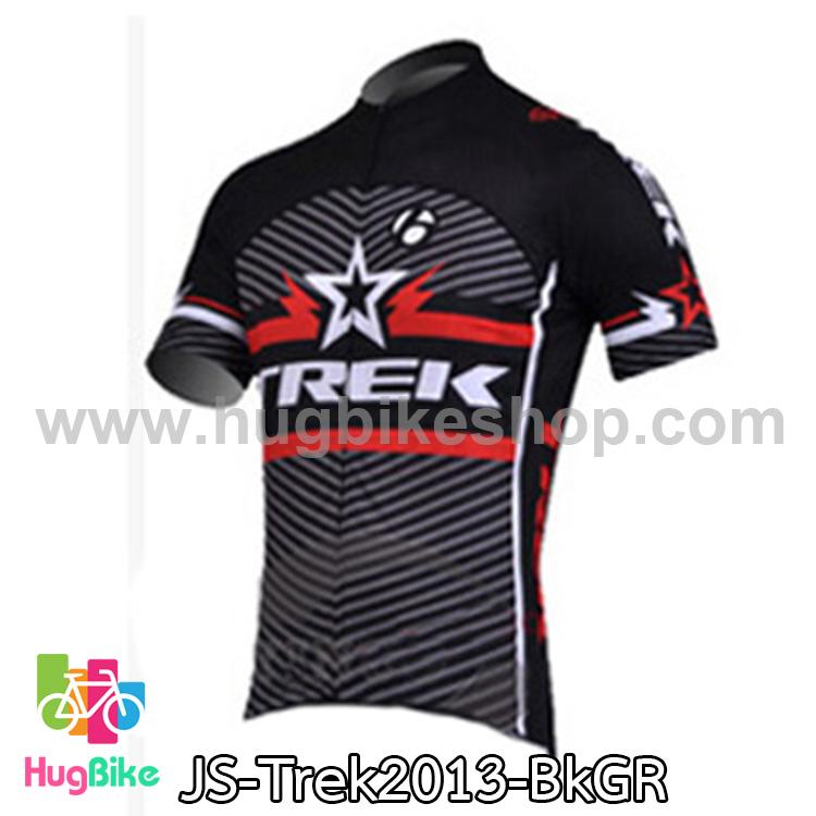 เสื้อจักรยานแขนสั้นทีม Trek 13 สีดำเทาแดง สั่งจอง (Pre-order)
