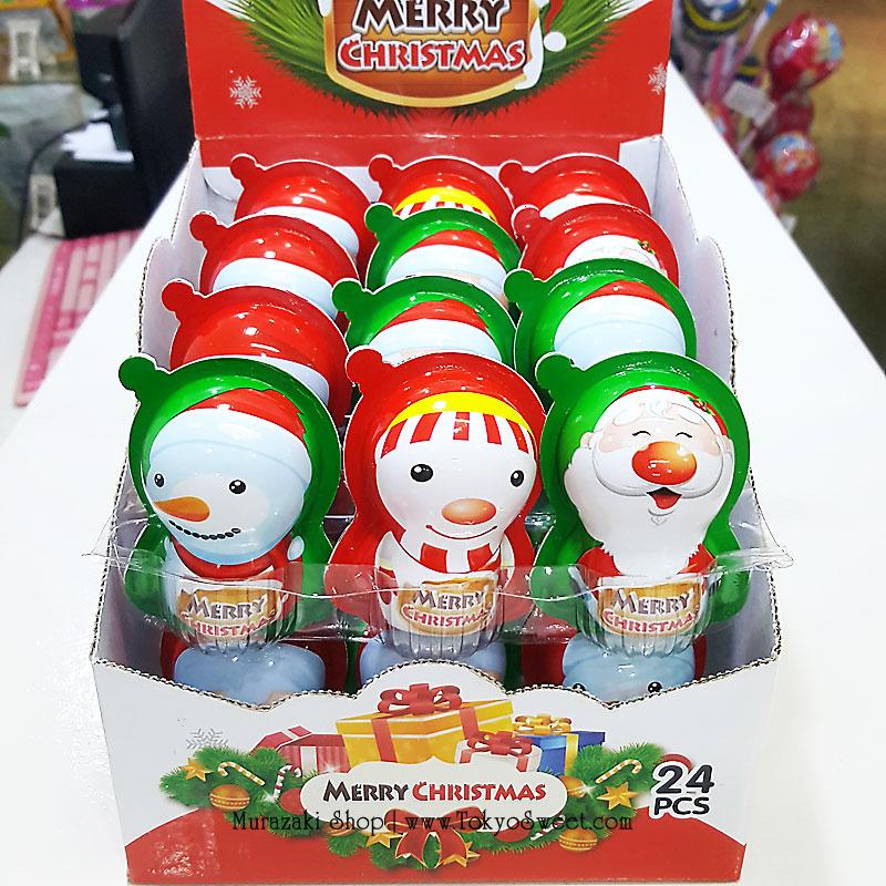 พร้อมส่ง ** Choco Egg - Merry Christmas ไข่ช็อคโกแลตคริสต์มาส แถมของเล่น แพ็ค 24 ลูก (สินค้ามีอย.ไทย)