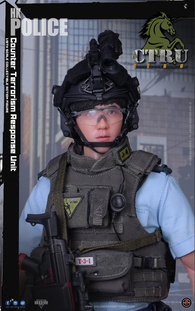 "Soldier Story 1//6 Scale Hong Kong Police CTRU /""Xiao Ming/"" Custom Figure Set"