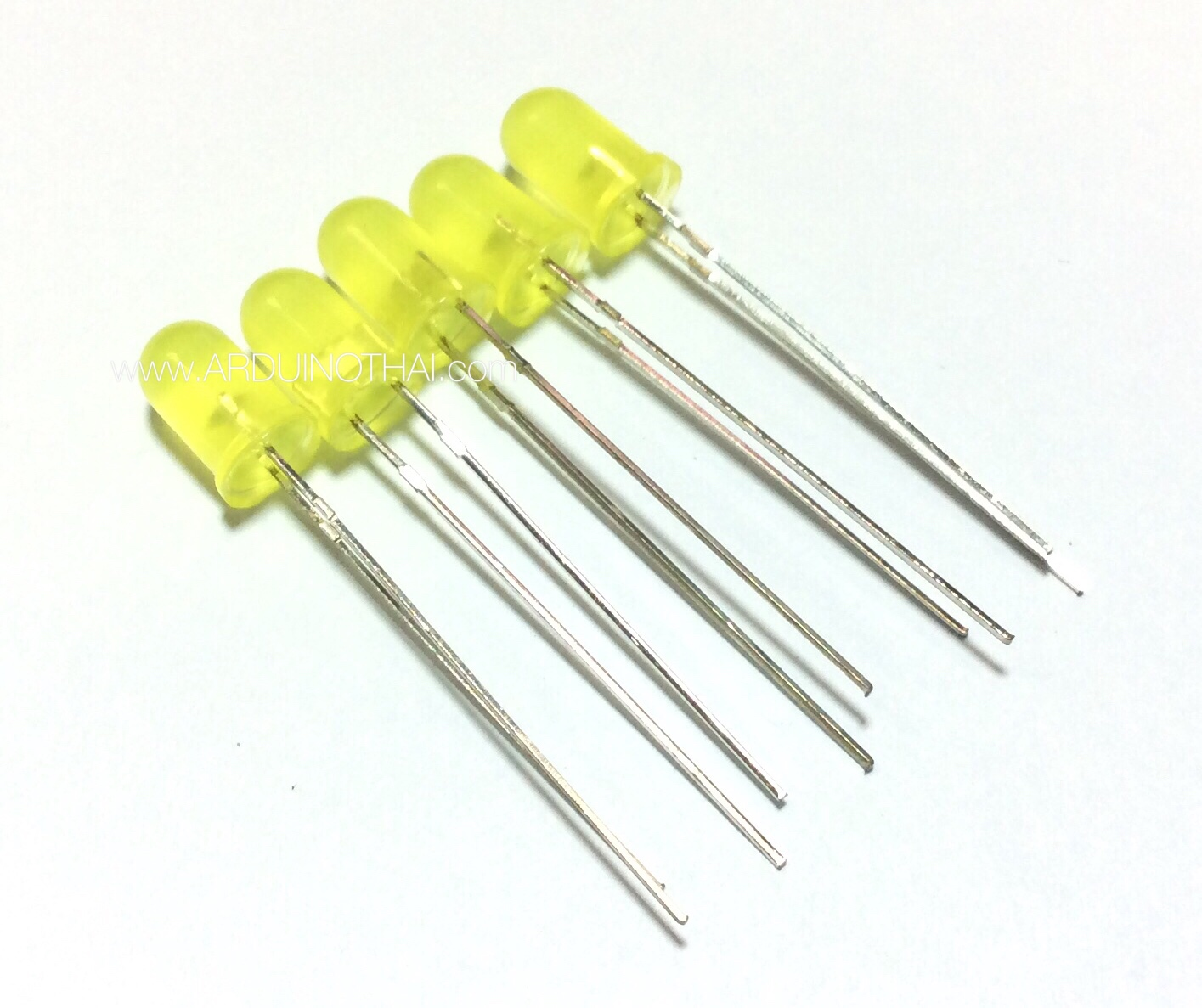 5mm LED Yellow (เปลี่ยนเป็นสีส้ม จำนวน 5 ดวง)