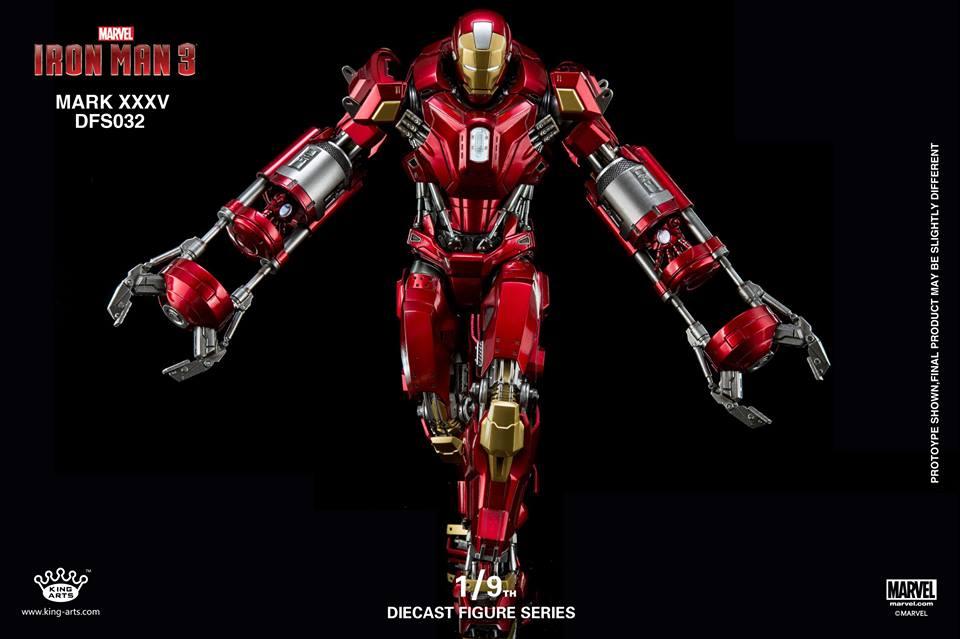 King Arts 1/9 DFS032 Diecast Action Iron Mark XXXV
