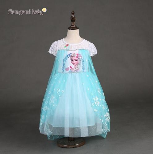 Pre-order ชุดเอลซ่า/ Size 130 / Light blue