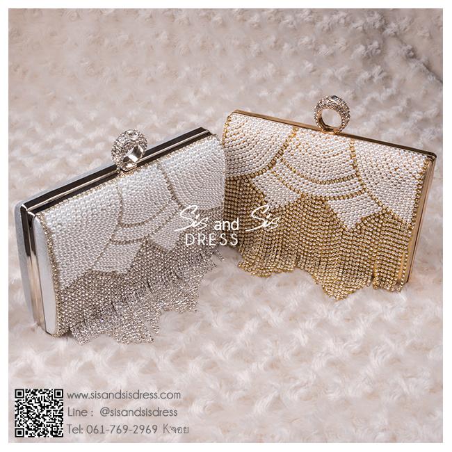 bs0005 กระเป๋าคลัช สีทอง กระเป๋าออกงานพร้อมส่ง ราคาถูกกว่าเช่า แบบสวยๆ ดูดีเหมือนดาราใช้