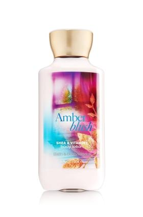 **พร้อมส่ง**Bath & Body Works Amber Blush Shea & Vitamin E Body Lotion 236 ml. โลชั่นบำรุงผิวสุดพิเศษ กลิ่นหอมของราสเบอร์รี่ผสมวนิลลา หอมหวานๆคล้ายๆกลิ่นพายเบอรรี่คะ ,